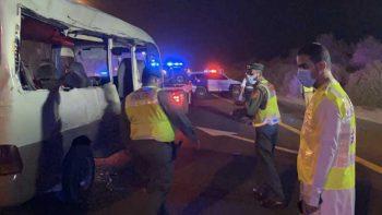Emirates Road bus and truck crash kills 4, injures 11