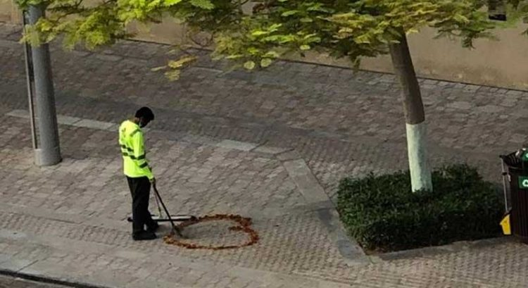 Dubai street cleaner who drew heart on pavement becomes Instagram sensation