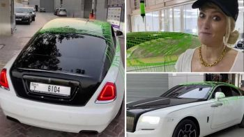 Supercar Blondie shocks followers with 'horrible' Rolls Royce paint job in Dubai
