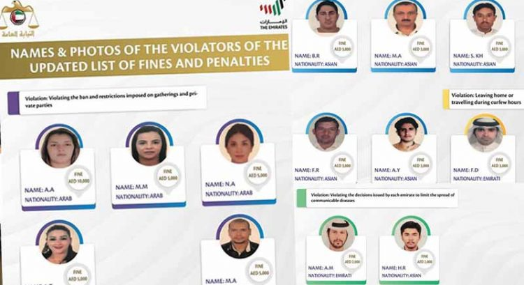 Arab woman fined Dh10,000 as UAE Covid-19 rule violators named and shamed