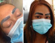 Filipina files police complaint against tattoo artist over botched eyebrow tattoo
