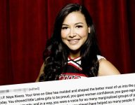 Fan's moving tribute to Glee's Naya Rivera