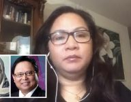 Filipina Sarah Balabagan who was jailed in UAE for murder claims Arnold Clavio is her child's father