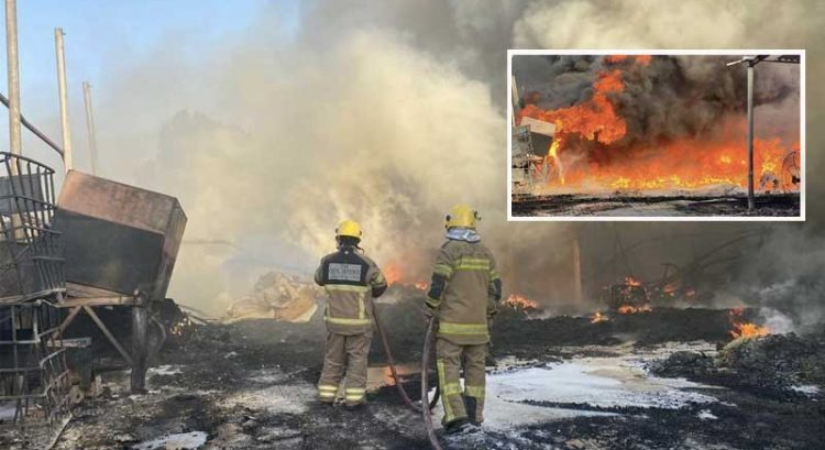 VIDEO – Fire destroys 4 warehouses in Ajman