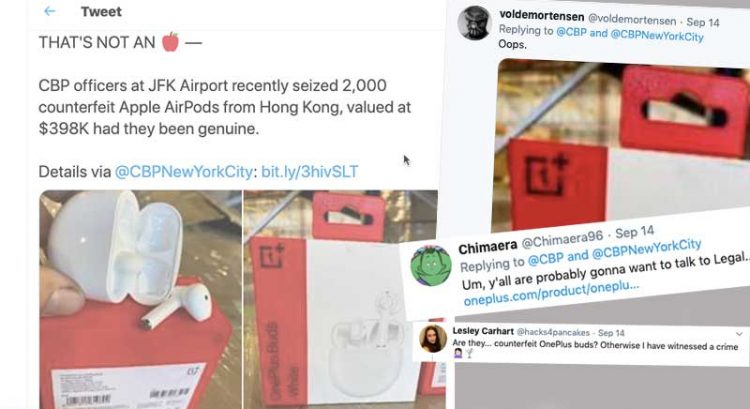 OnePlus Buds seized as 'fake' Apple AirPods, Twitter users have a blast