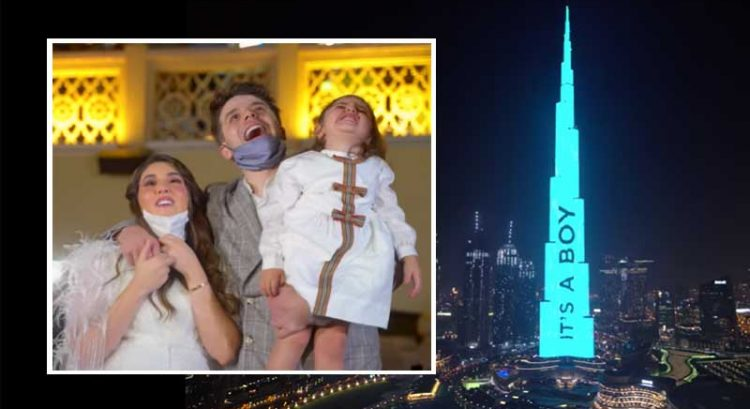 Watch: Dubai YouTubers' baby gender reveal on Burj Khalifa