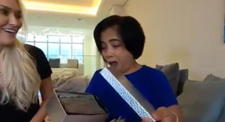 Boss surprises Filipina in Dubai with full college fund for son