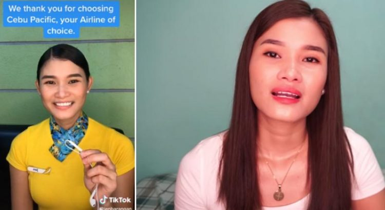 Cebu Pacific flight stewardess behind viral Tiktok trend loses job