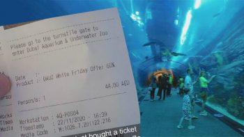 Dh44 ticket to Dubai Aquarium, 60% discount at Dubai attractions