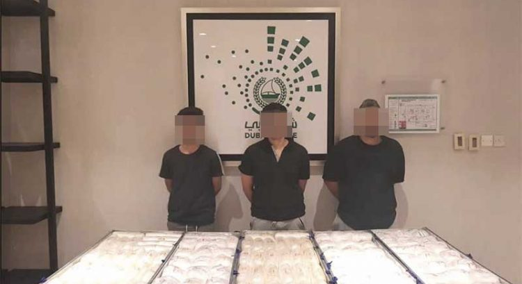 3 arrested in Dubai after trying to smuggle drugs in shipping container