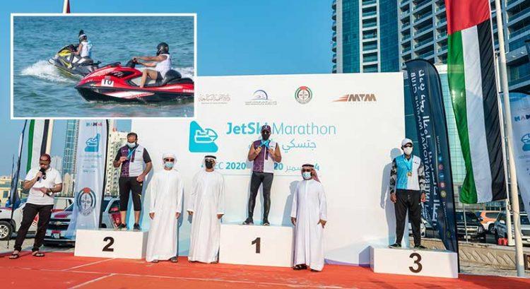 Sheikh Abdulaziz wins Ajman Jet Ski Marathon