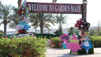 Have fun getting lost at new Alice In Wonderland Garden Maze in Dubai
