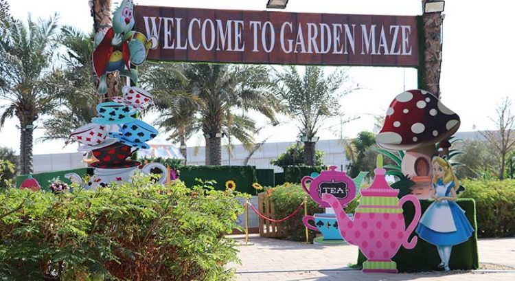 Have fun getting lost at new Alice In Wonderland Garden Maze in Dubai