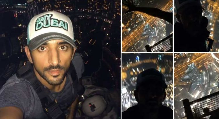 Sheikh Hamdan climbs to top of Burj Khalifa, again!