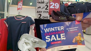 Sharjah Clearance Sale: Tommy Hilfiger shirts for Dh45, Birkenstock for Dh69, Armani hoodies for Dh60, shoes for Dh25