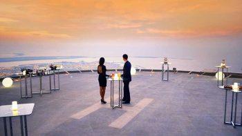 Abu Dhabi dinner on Middle East's highest helipad