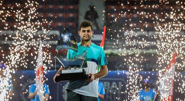 Karatsev defeats Harris to win Dubai tennis championships