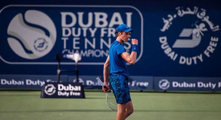 Jannik Sinner defeats Bautista Agut in Dubai