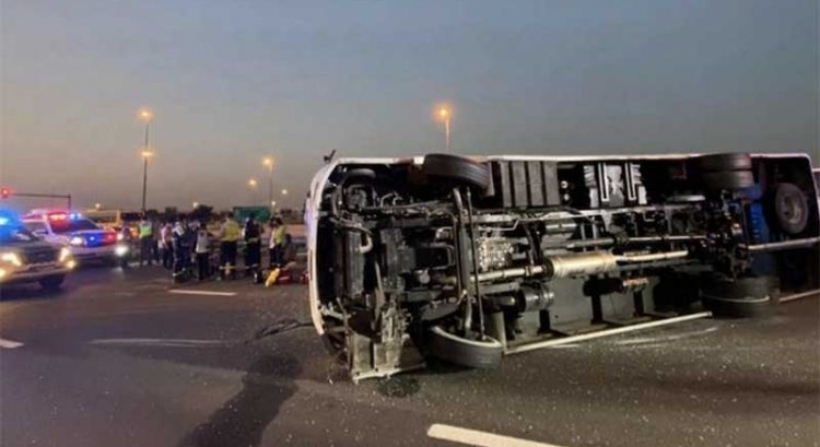 10 injured in Dubai after sleeping driver causes bus to crash