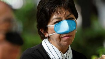 A nose mask while you eat? It's real in Mexico