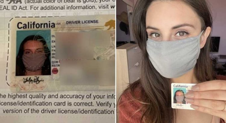 Woman's new driver's license features her in face mask