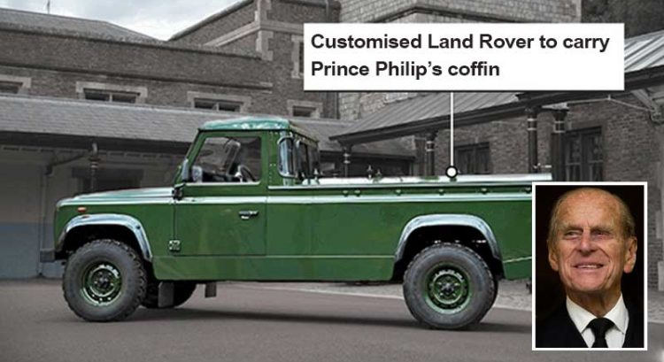 Land Rover designed by Prince Philip to carry his coffin