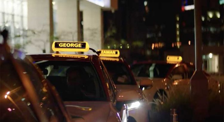 Taxi drivers in Dubai have names displayed on roof lights