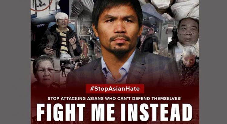 Manny Pacquiao to anti-Asian attackers: Fight me instead