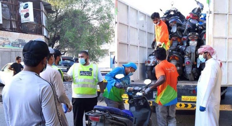 Sharjah police seize e-scooters, bicycles and motorbikes