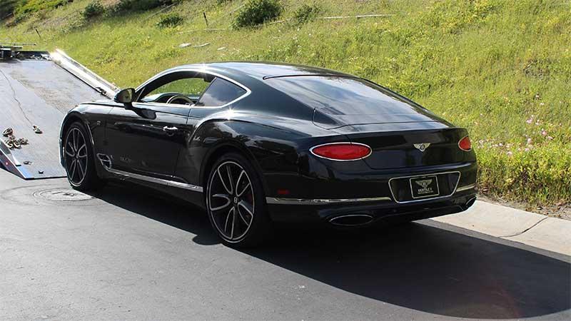 The Bentley seized from the California home of Mustafa Qadiri.