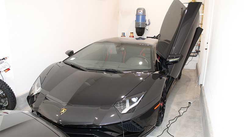 The Lamborghini seized from the California home of Mustafa Qadiri.