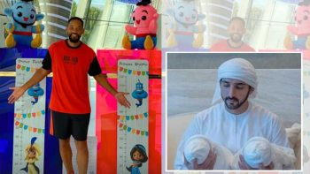 Sheikh Hamdan's twin babies get gifts from Will Smith
