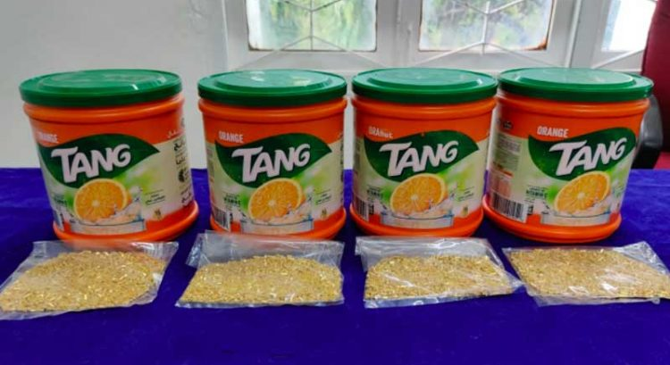 Dubai smugglers busted, gold hidden in Tang containers seized