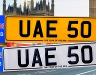 UAE 50 number plate issued in UK set for record price