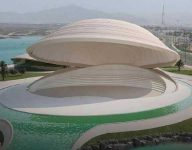 Sharjah floating theatre the shape of a sea shell to rise in Kalba