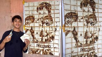 Teen creates Manny Pacquiao sliced bread portrait
