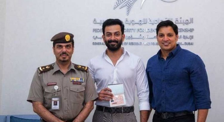 Indian actor Prithviraj gets UAE Golden Visa