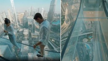 New Dubai attraction lets you walk on glass high in the sky