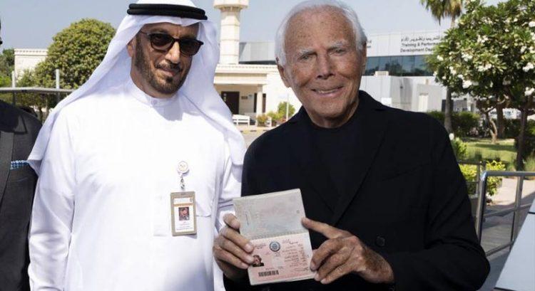Giorgio Armani gets UAE Golden Visa as iconic Armani Hotel Dubai turns 10