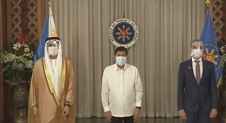 Philippine President Duterte receives new UAE ambassador