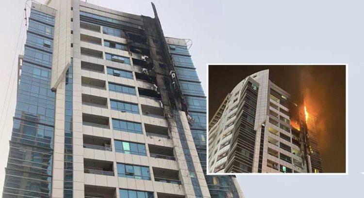 Dubai Marina tower fire displaces 60 residents