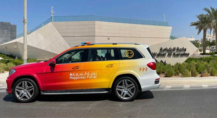 If this Abu Dhabi police patrol stops you, it's your lucky day!